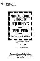 Medical School Admission Requirements  U S A  and Canada PDF