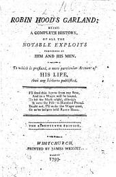 Robin Hood's Garland. Eighteenth edition