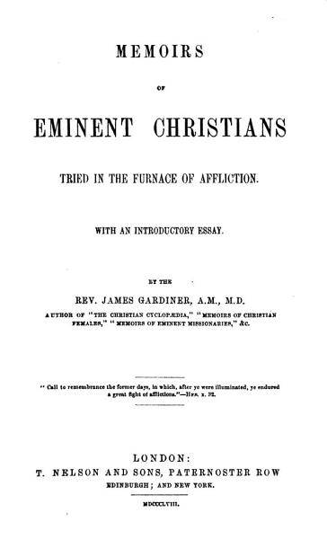 Download The great fight of afflictions  Memoirs of deeply tried Christians  With an introductory essay Book