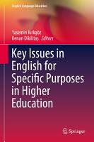 Key Issues in English for Specific Purposes in Higher Education PDF