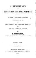 Alterth  mer des Deutschen Reichs und Rechts PDF