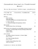 Canadian Journal for Traditional Music PDF