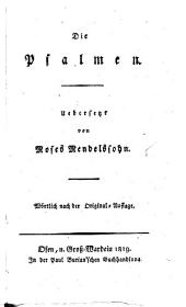 Moses Mendelssohn's sämmtliche Werke: Band 8