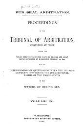 Fur Seal Arbitration: Volume 9