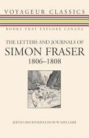 The Letters and Journals of Simon Fraser  1806 1808 PDF