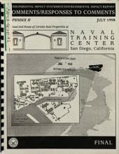 Naval Training Center San Diego, Disposal and Reuse of Certain Real Properties: Environmental Impact Statement