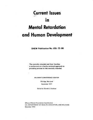 Current Issues in Mental Retardation and Human Development PDF
