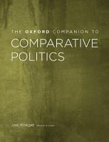 The Oxford Companion to Comparative Politics PDF