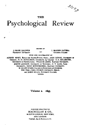 Psychological Review: Volume 2