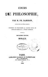 Cours de philosophie: Morale