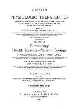 A System of Physiologic Therapeutics  Climatology  health resorts  mineral springs PDF