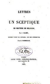 Lettres à un sceptique en matierè de religion