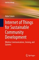 Internet of Things for Sustainable Community Development PDF