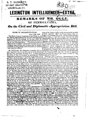 Remarks of Mr. Ogle, of Pennsylvania, on the Civil and Diplomatic Appropriation Bill