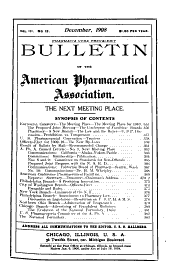 Bulletin of the American Pharmaceutical Association: Volume 3