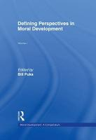 Moral Development  Defining perspectives in moral development PDF