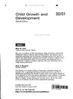 Child Growth and Development 2000 2001 PDF