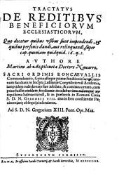 Tractatus de reditibus beneficior. ecclesiast ...