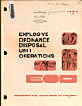 Explosive Ordnance Disposal Unit Operations