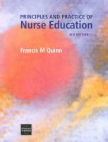 The Principles and Practice of Nurse Education PDF