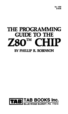 The Programming Guide to the Z80 Chip PDF