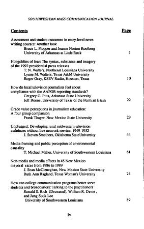 Southwestern Mass Communication Journal PDF