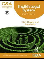 Q&A English Legal System 2009-2010: Edition 8