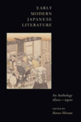 Early Modern Japanese Literature PDF