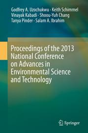 Proceedings of the 2013 National Conference on Advances in Environmental Science and Technology PDF