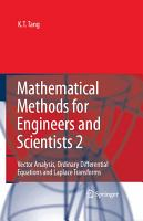 Mathematical Methods for Engineers and Scientists 2 PDF