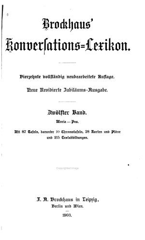 Brockhaus  konversations lexikon  Bd  Moria Pes PDF