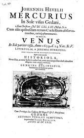 Johannis Hevelii Mercurius in Sole visus