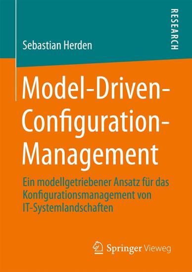 Model Driven Configuration Management PDF