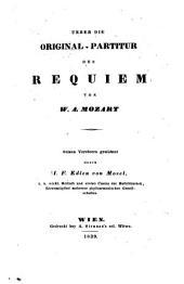 Ueber die Original-Partitur des Requiem von Mozart