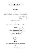 Archiv f  r Kunde   sterreichischer Geschichts Quellen PDF