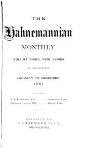 The Hahnemannian Monthly: Volume 16