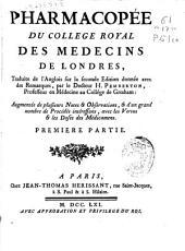 Pharmacopée du Collége Royal del Médecins de Londres