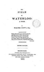 The field of Waterloo; a poem