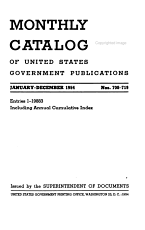 Monthly catalog of the United States government publications PDF
