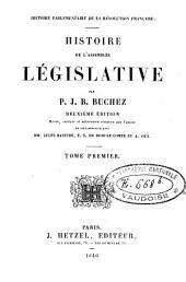 Histoire parlementaire de la Révolution française: Histoire de l'assemblée législative. Vol. 6-9