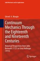 Continuum Mechanics Through the Eighteenth and Nineteenth Centuries PDF