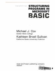 Structuring Programs in Microsoft BASIC PDF