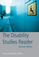 The Disability Studies Reader PDF