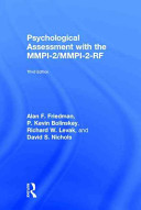 Psychological Assessment with the MMPI 2 MMPI 2 RF PDF