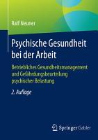 Psychische Gesundheit bei der Arbeit PDF