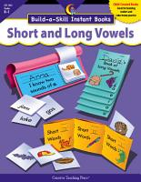 Build a Skill Instant Books  Short and Long Vowels  eBook PDF