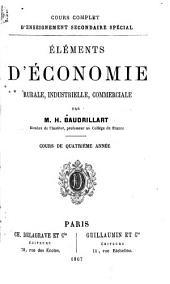 Éléments d'économie: rurale, industrielle, commerciale
