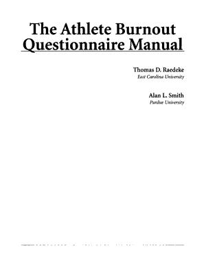 The Athlete Burnout Questionnaire Manual