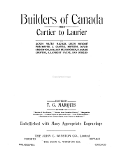 Builders of Canada from Cartier to Laurier