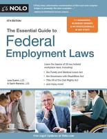 Essential Guide to Federal Employment Laws PDF